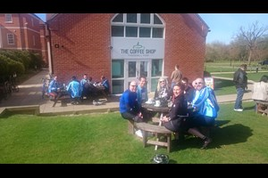 Club run to the Thremhall Park Cafe, Takeley